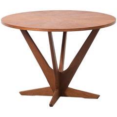 Soren Georg Jensen Kubus Radial Teak Danish Coffee Table