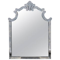 1940s Regency Style Mirror by Marchand