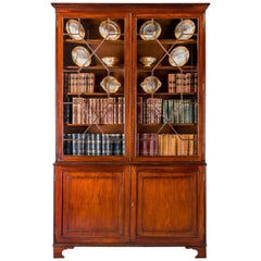 George III Period Mahogany Two Door Bookcase