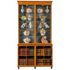 George III Period Satinwood Bookcase