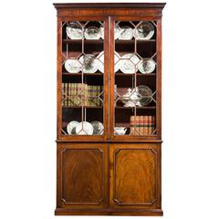 George III Period Mahogany Straight Fronted Bookcase