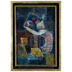 Latin American Modern Abstract Painting, Signed Bonilla 1971