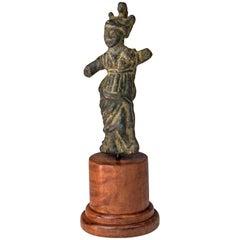 Roman Bronze Figure of Athena, 3rd-4th Century Ad
