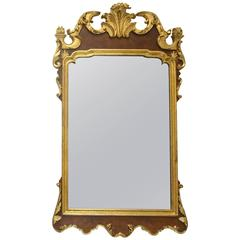 LaBarge Gilt and Brown Wood Regency Mirror
