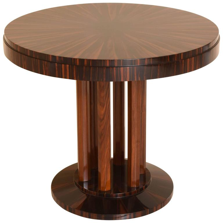 art deco centre table with macassar wood maison rinck france 1920s at 1stdibs. Black Bedroom Furniture Sets. Home Design Ideas