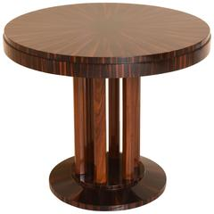 Art Deco Centre Table with Macassar Wood, Maison Rinck, France, 1920s