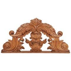 Antique Italian Noble Heraldic Over Door or Mirror Cyma