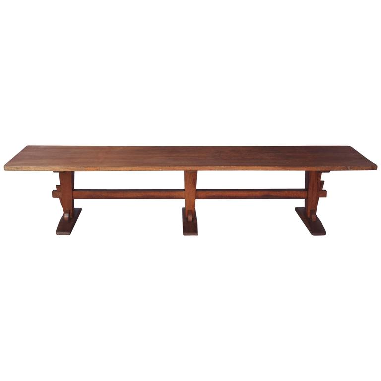 Large Primitive Industrial Early Bench Or Coffee Table At 1stdibs