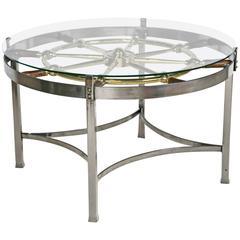 English Ships Wheel Table