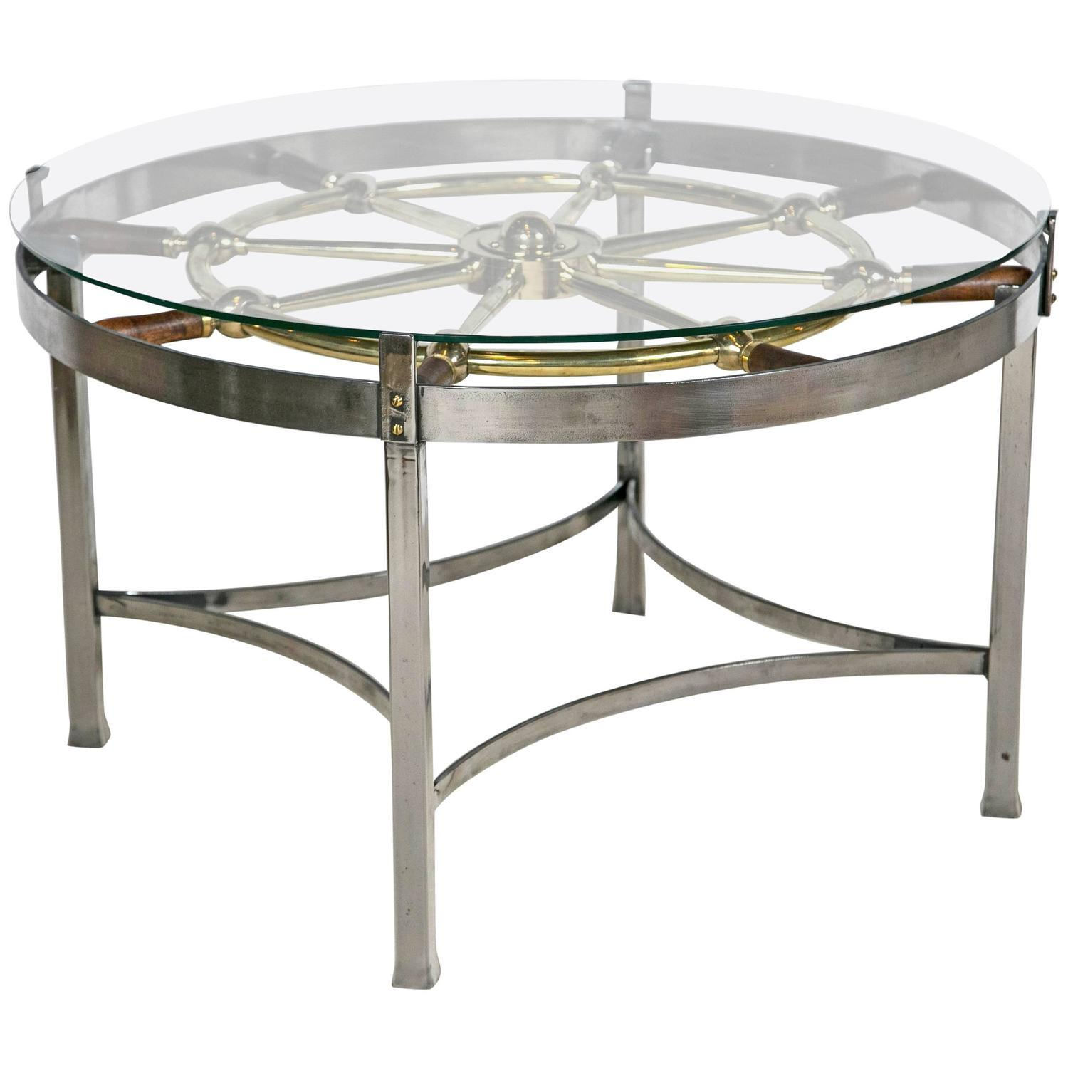 English Ships Wheel Table At 1stdibs