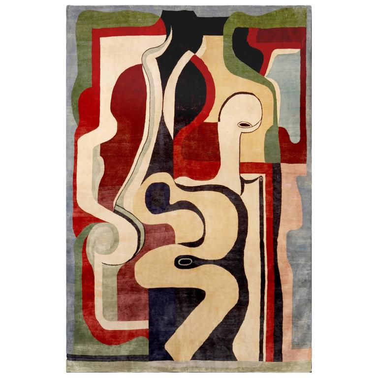 A Contemporary Carpet After Auguste Herbin For Sale At 1stdibs