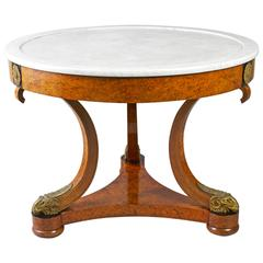 Empire Early 19th Century Amboyna Center Table by Jean-joseph Chapuis