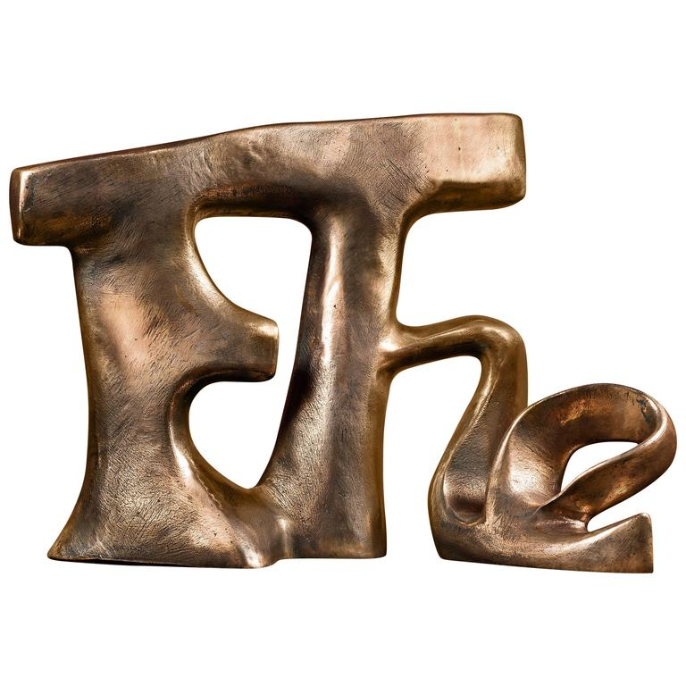 "Unique Piece Bronze Sculpture ""Etre"" by the Artist Catherine Val"
