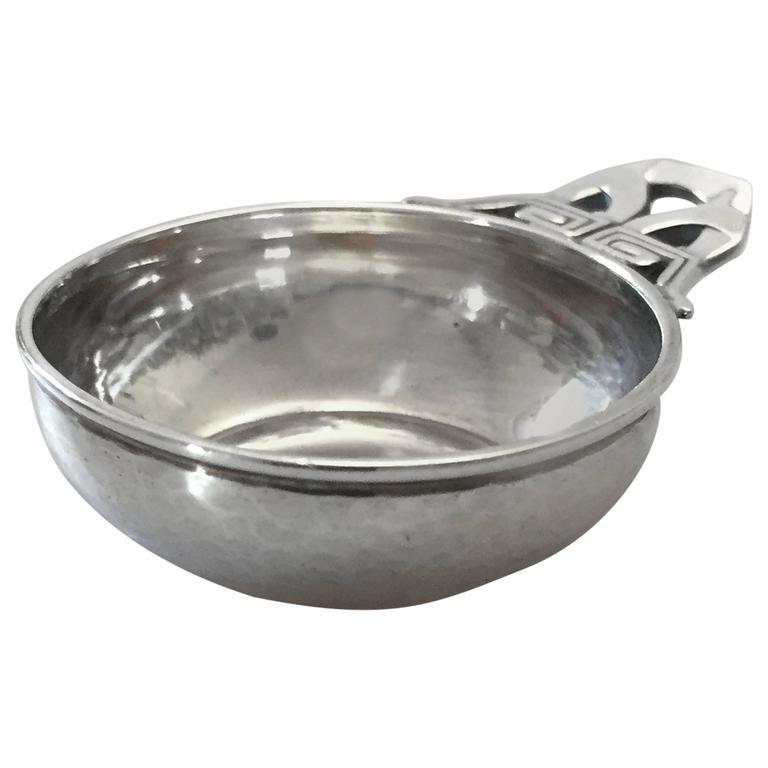 Georg Jensen Sterling Silver Salt Dish For Sale