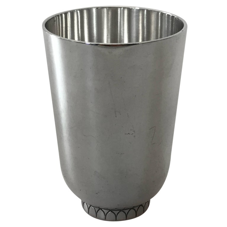 Georg Jensen Sterling Silver Sigvard Bernadotte Cup For Sale
