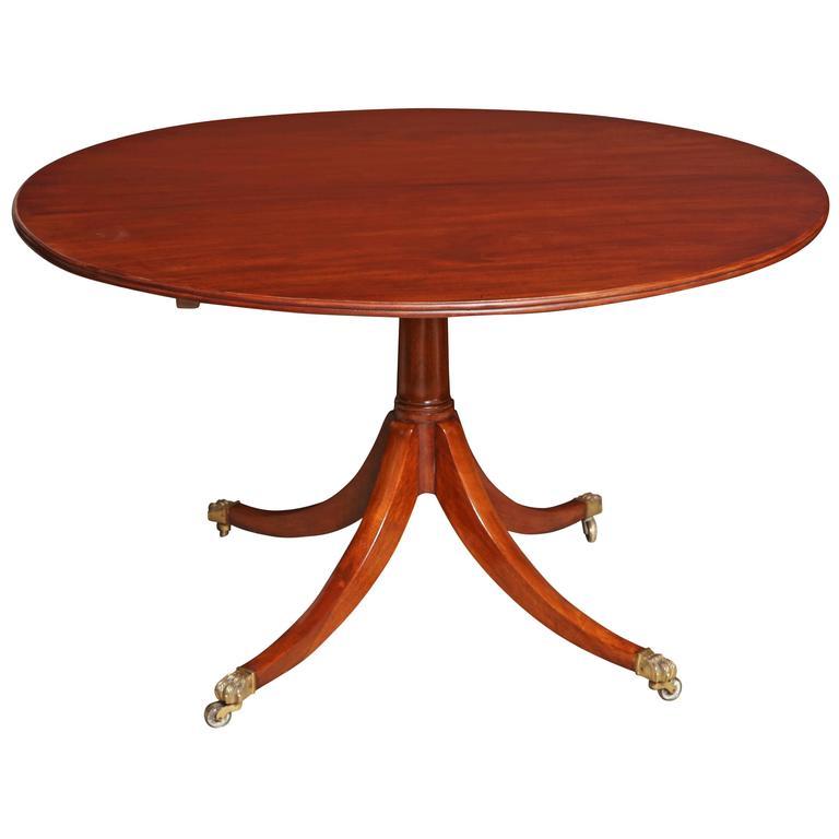 Regency Mahogany Circular Center or Dining Table