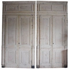 Pair of Early 19th Century Directoire Period Boiserie Door Panels