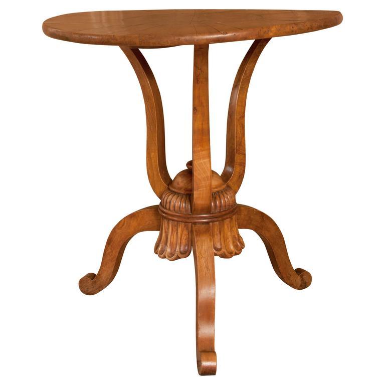 19th Century French Walnut Tripod Table