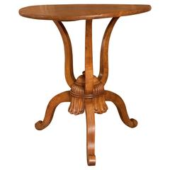 19th Century French Walnut Tripod Table