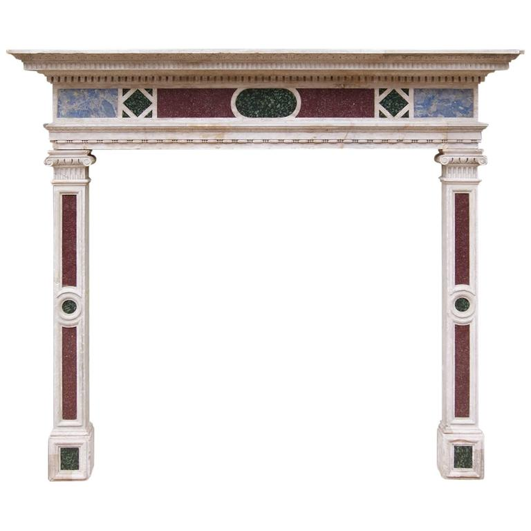 19th Century Istrian Stone  Fireplace Mantel Attributed to Sir Charles Barry