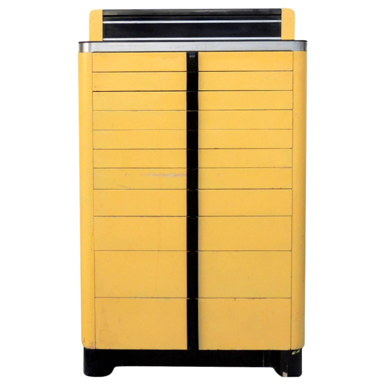 Deco Industrial Dental Cabinet For Sale at 1stdibs