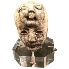 Porcelain Head by Michele Oka Doner