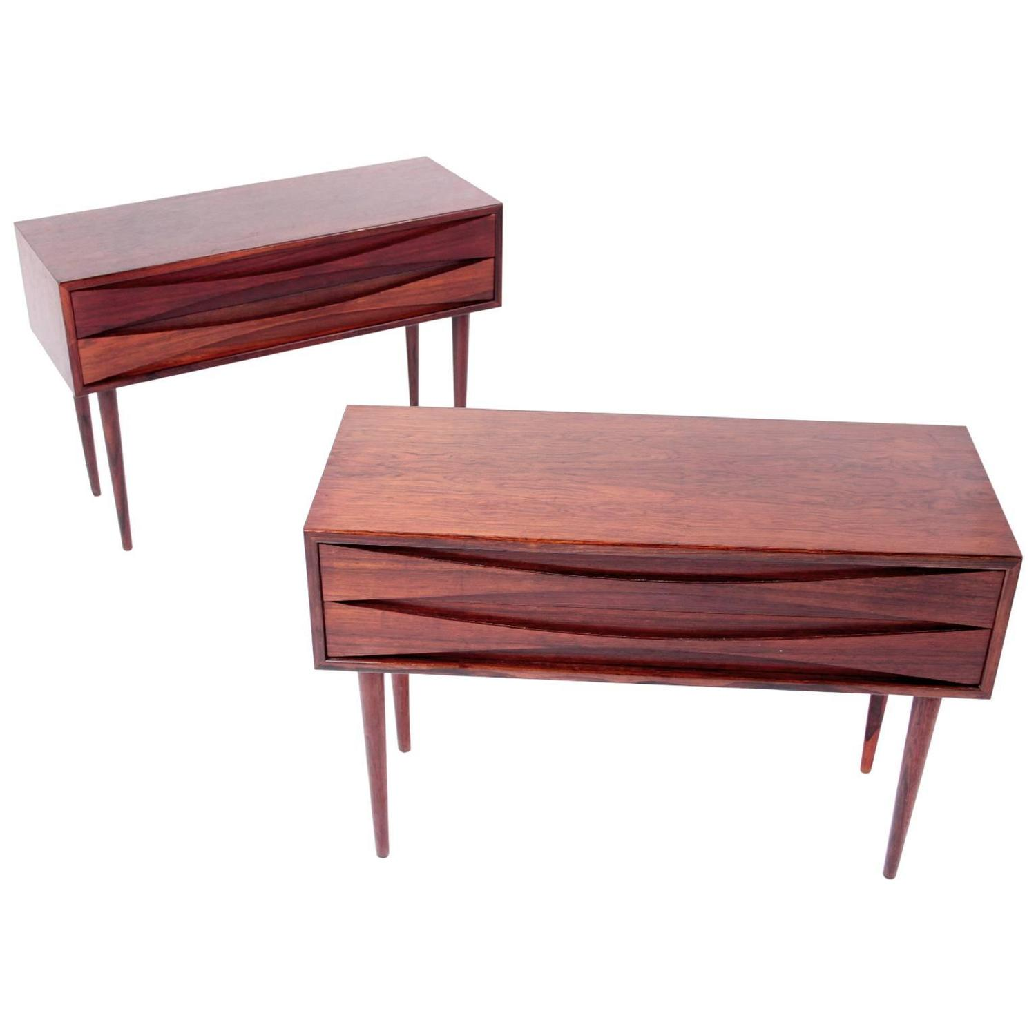 arne vodder rosewood bedside tables at 1stdibs. Black Bedroom Furniture Sets. Home Design Ideas