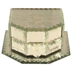Vintage Mirrored Jewelry Box