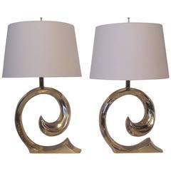 Pierre Cardin Brass Table Lamps
