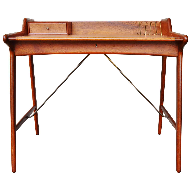 stunning minimalist svend madsen danish modern teak desk at 1stdibs
