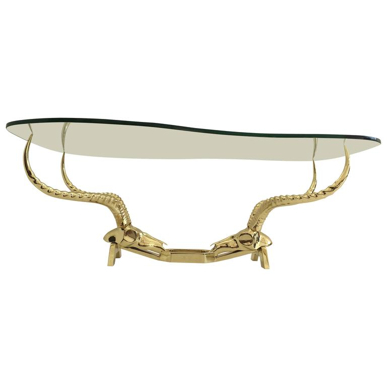 Brass Ibex or Antelope Coffee Table by Fondica, France For Sale at ...