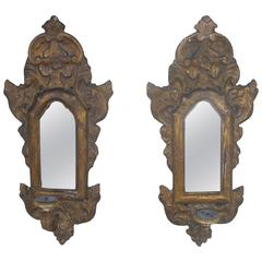 Antique 17th Century Mirrored Appliques