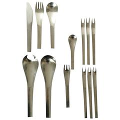 Georg Jensen Stainless Steel Blue Shark Flatware Set of 80 Pieces