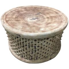 Light Colored Large African Coffee Cocktail Table Cameroon