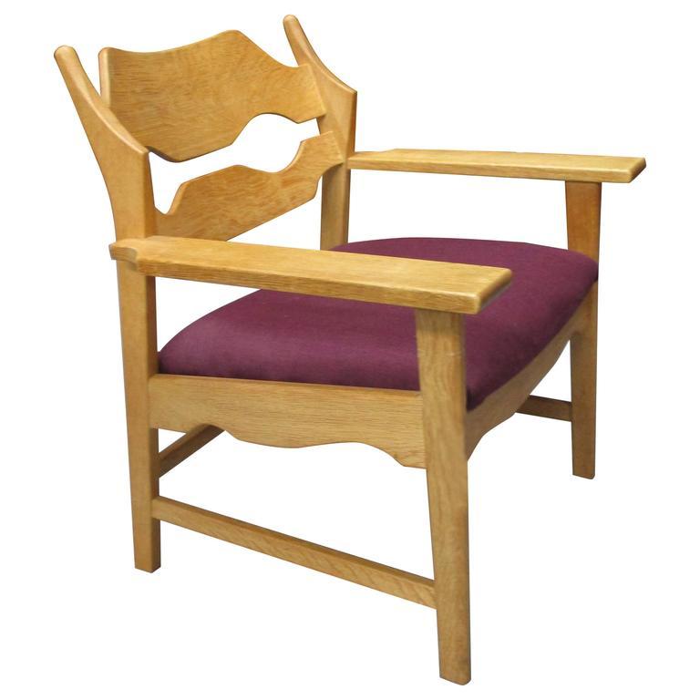 Unique Chair in Oak by Henning Kjaernulf