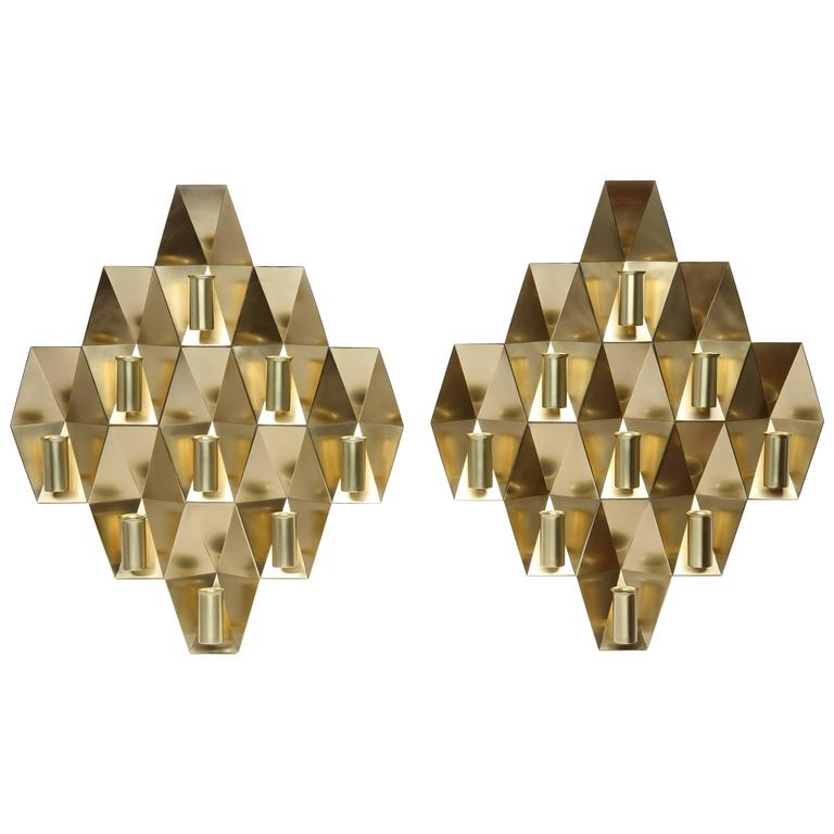 Pair of Rare Wall Lamps by Fog & Morup