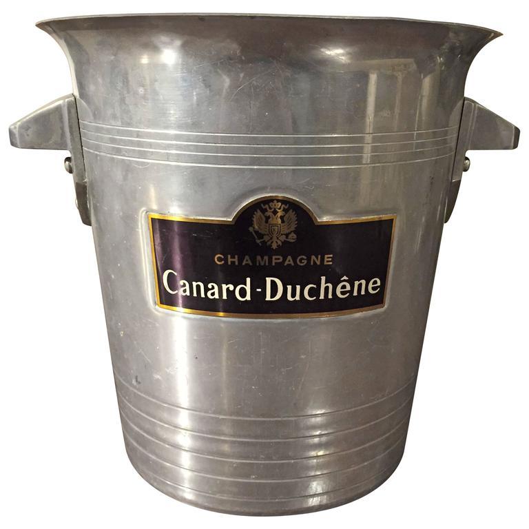 39 champagne canard duchene 39 vintage champagne bucket from france at 1stdibs. Black Bedroom Furniture Sets. Home Design Ideas