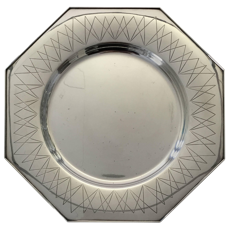 Hans Hansen, 1950s, Sterling Silver Octagon Shaped Tray