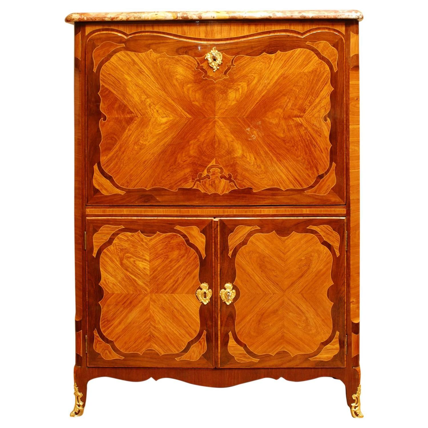 louis xv secretaire abattant stamped genty at 1stdibs. Black Bedroom Furniture Sets. Home Design Ideas