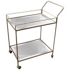 Mid-Century Mirrored Bar Cart