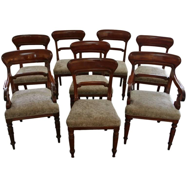 set of eight victorian mahogany dining chairs for sale at 1stdibs