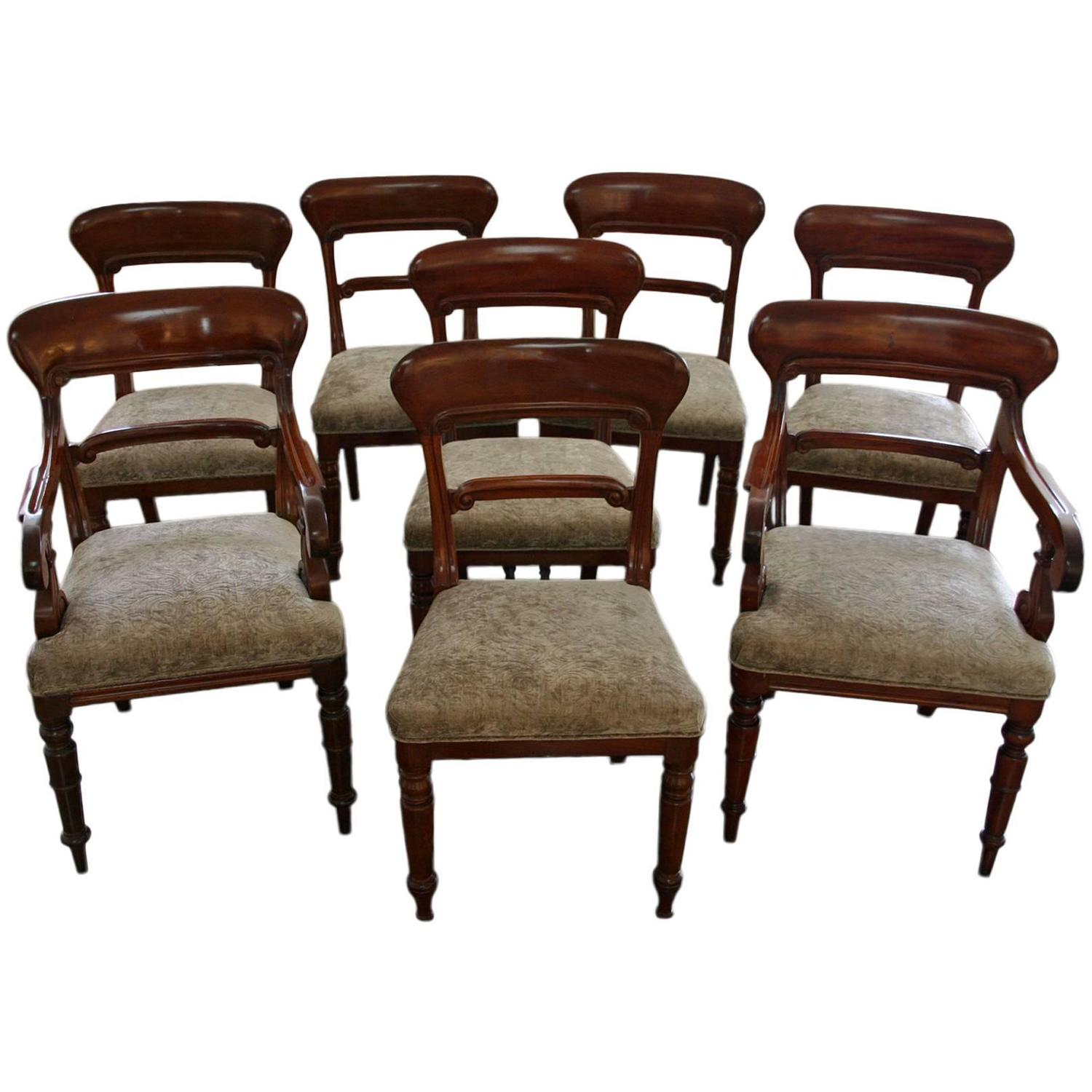 Set of Eight Victorian Mahogany Dining Chairs For Sale at  : 3583182z from www.1stdibs.com size 1500 x 1500 jpeg 136kB
