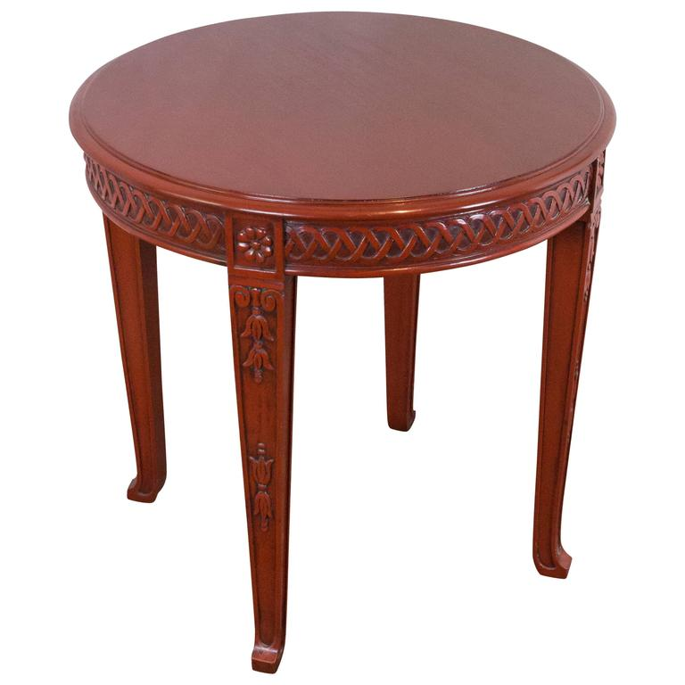 chinese modern style round end table for sale at 1stdibs. Black Bedroom Furniture Sets. Home Design Ideas