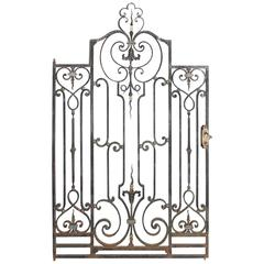 Single Antique Iron Gate from France, circa 1900