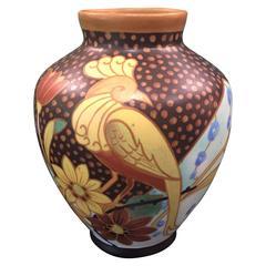 Belgium Vase from the Boch Freres Keramis Factory