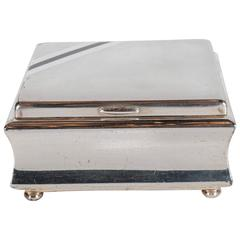 Handsome Art Deco Silver Plated Square Box by WMF