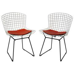 Harry Bertoia for Knoll Side Chairs, Pair