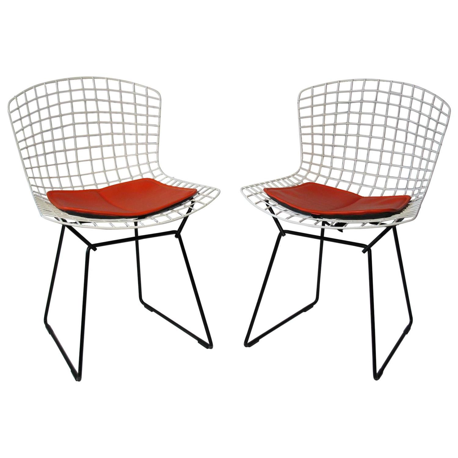 Harry Bertoia for Knoll Side Chairs Pair at 1stdibs