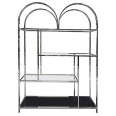 Large Chrome Etagere Style of Milo Baughman