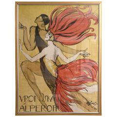 "Original French Poster ""Vronska et Alperoff"" by Jean-Gabriel Domergue circa 1923"